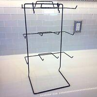 One 12 Single Peg Hook Counter Top Display Rack (holds 3 X 5 Item) (black)