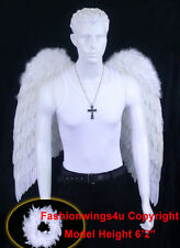 FashionWings Xl White Costume Feather Wings Archangel cosplay props Unisex