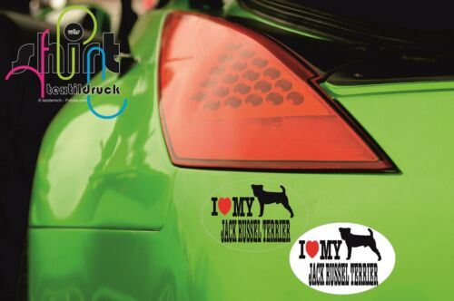 DA 108 I love my Jack Russel Terrier Hund Dog Aufkleber Autoaufkleber Sticker