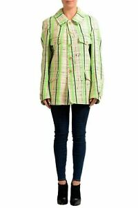Maison Margiela 1 Multi-Color Checkered Women's Basic Coat US S IT 40