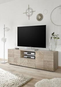 Mobile Porta Tv Grigio.Dettagli Su Mobile Porta Tv Cassetto Bianco Grigio Lucido Rovere Serigrafia Moderno Mira02