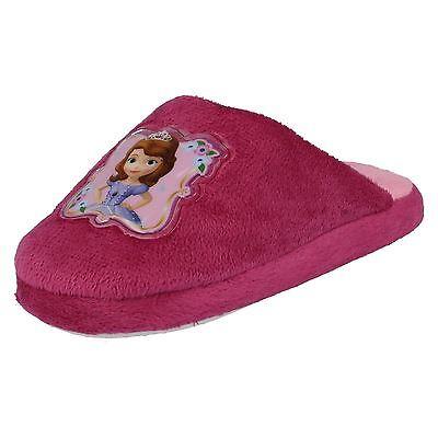 wd8166- Mädchen Disney pink Sofia die Erste Maultier Hausschuhe- TOLLER PREIS