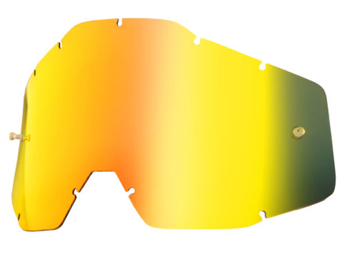 100/% Goggle Replacement Lens Racecraft//Accuri//Strata Gold Mirror