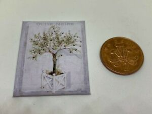 HANDMADE MINIATURE DOLLS HOUSE ACCESSORY CANVAS STYLE WALL ART PICTURE BLOSSOM