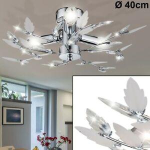 LED Blätter Äste Deckenleuchte Beleuchtung Schlafzimmer Lampen Chrom rund EEK A+