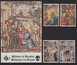 W256-timbres-bloc-Belgique-034-Millenaire-de-Bruxelles-034-1979-Neuf-MNH-TBE