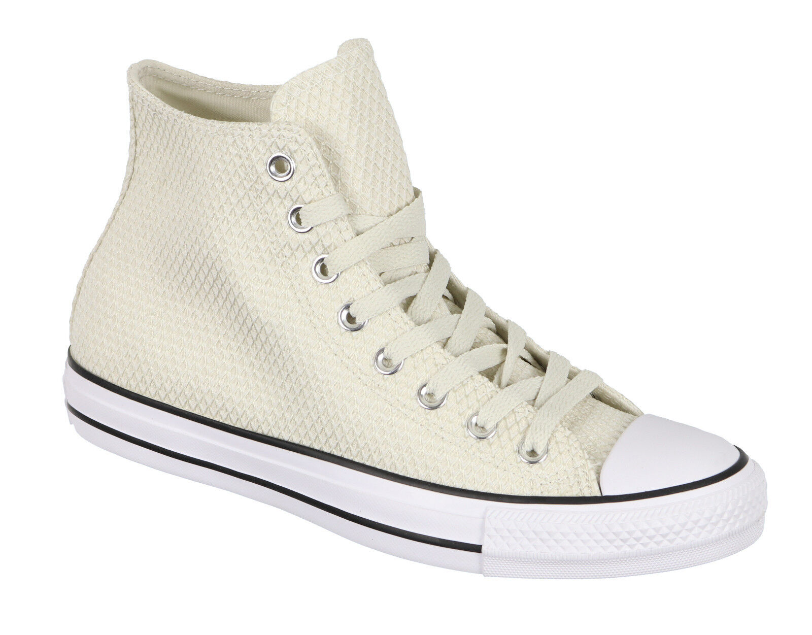 CONVERSE Women's Chuck Taylor All Star High Tops sz 6 Buff Beige White Hi