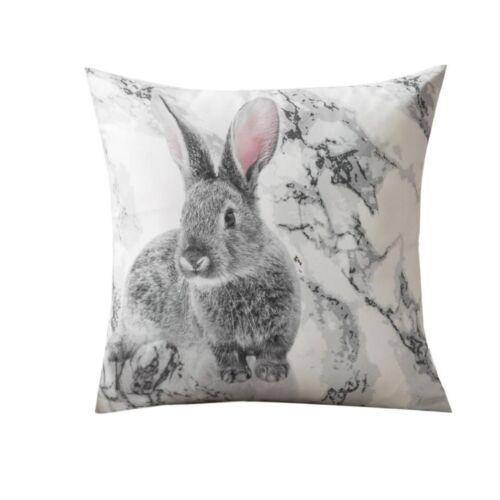 Rabbit Pillowcase Animal Cushion Cover Bunny Sofa Throw Pillow Home Decoration