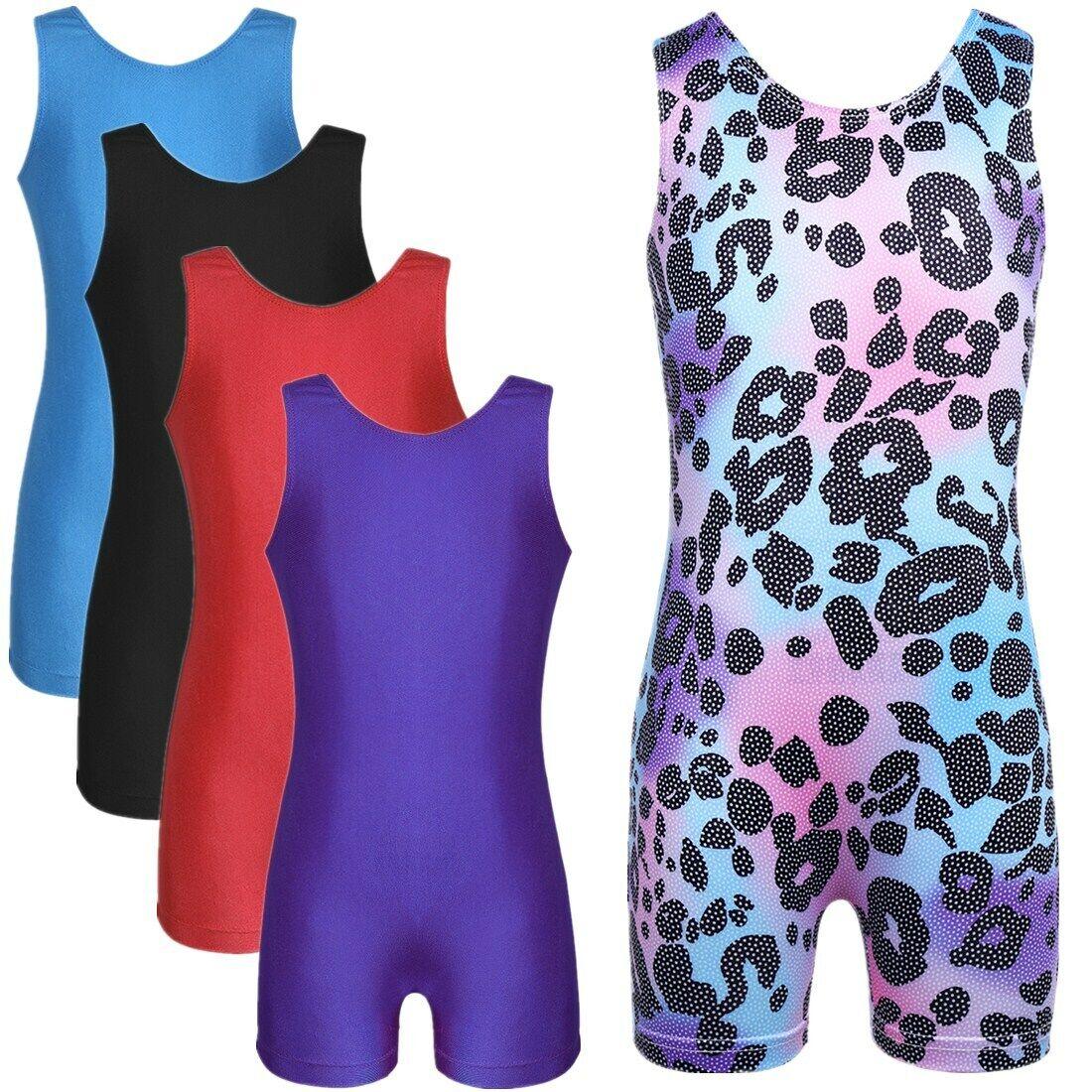 Girls Kid Leotard Ballet Dance Dress Jumpsuit Dancewear Gym Latin Short Romper