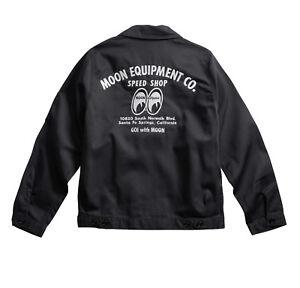 Men S Mooneyes Moon Equipment Speed Shop Black Jacket W Classic Logo Mqw001bk Ebay