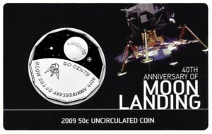 2009-Australian-40th-Anniversary-of-Moon-Landing-50cent-UNC