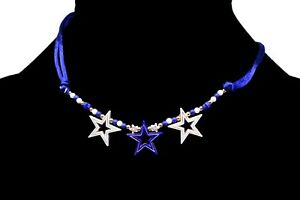 Dark-Blue-White-Triple-Star-Beaded-Artsy-Chic-Necklace-15-034