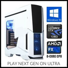 Nvidia 8-Core Gaming Computer Desktop PC Tower 3.6GHz Turbo 16GB RAM GTX 1060