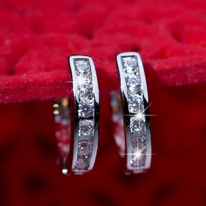 18k-white-gold-gf-made-with-Swarovski-crystal-huggies-classic-earrings-SMALL
