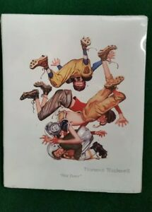 Vintage-Norman-Rockwell-034-First-Down-034-Football-Print-1997-Northern-Knights