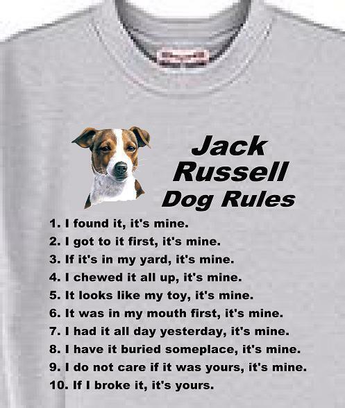 PROUD PARENT OF A JACK RUSSELL TERRIER DOG T-SHIRT Mens Womens Christmas Present