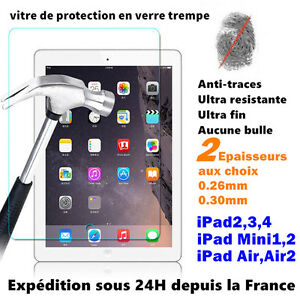 iPad-2-3-4-MINI-AIR-PRO-vitre-protection-Film-protecteur-d-039-ecran-VERRE-trempe