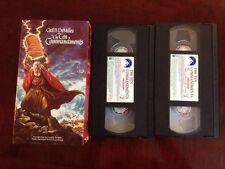 ☀️ The Ten Commandments 2-tape VHS Set Charlton Heston Yul Brunner MINT