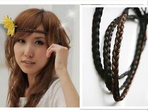 6705349e5227f5 Das Bild wird geladen Top-Haarteil-Haar-Zopf-Haarband-geflochten-1cm-oder1-
