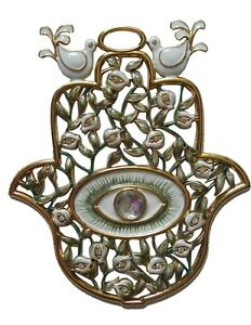 Green-Hamsa-Wall-Hanging-Hand-of-God-Jewish-Hebrew-Home-Protection-with-Evil-Eye