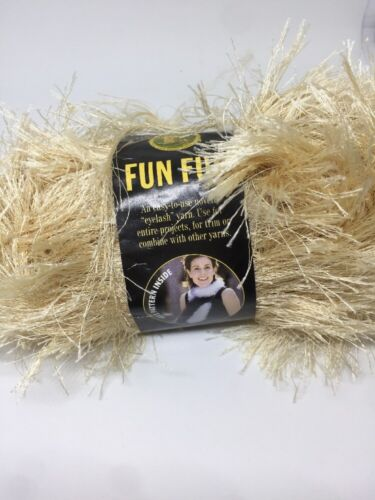 Lion Brand Fun Fur Yarn Champagne  #124 Eyelash Discontinued color 1 skein