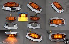 10 X Auto LED BERNSTEIN SEITE CHROM BEGRENZUNGSLEUCHTEN 24V für LKW SCANIA MAN
