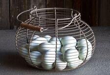 Farmhouse Wire Gathering Basket~Egg Basket