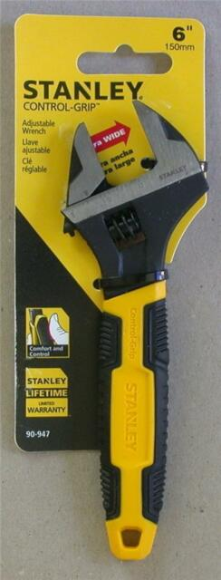 "STANLEY 90-947 CONTROL GRIP 6"" 150MM ADJUSTABLE WRENCH"