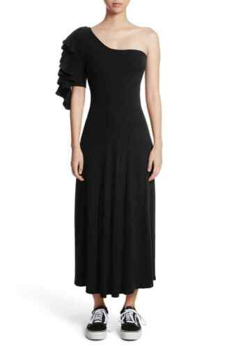 Beaufille  Dione One-Shoulder Dress Jersey Knit Ri