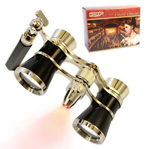 HQRP-Opera-Theatre-Binocular-3x25-Glasses-Optics-Coated-Lens-Prism-with-Handle