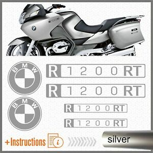 6x-BMW-R1200RT-Silver-2007-MOTO-ADESIVI-PEGATINA-R-1200-RT-AUTOCOLLANT-AUFKLEBER