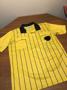 15efbf069 High Five Soccer Referee Jersey Shirt Yellow Black See Measurements ...