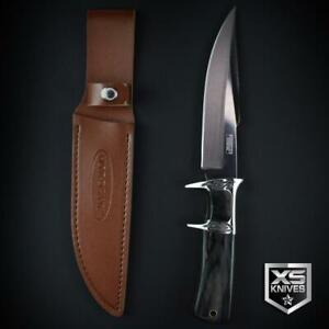 "BLACK Wood ORNATE Survival SUB HILT Combat Fixed Blade Hunting Knife 12"""