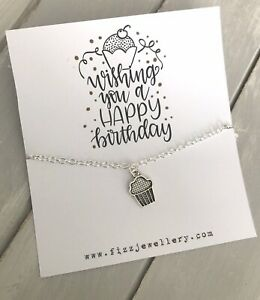 Wishing-You-Happy-Birthday-Cupcake-Silver-Plated-Necklace-Message-Card-Gift-Cake