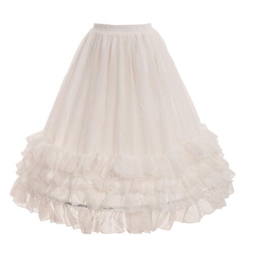 Linie Petticoat treiben einstellbare Pannier Krinoline Mädchen Chiffon Rock A