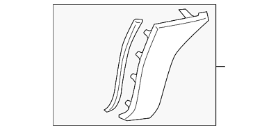 Genuine Toyota Cover Extension Pad 53851-04030