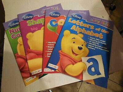 Preschool 2x Disney Winnie the Pooh Workbooks Alphabet + Shapes /& Sizes