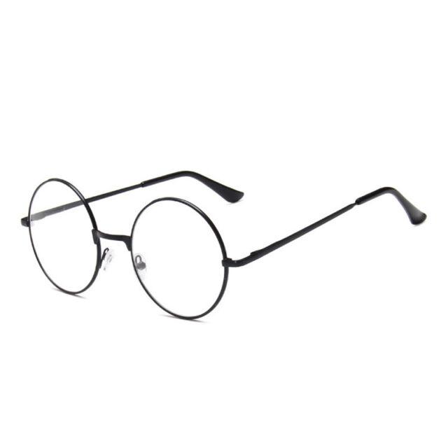 f8e891f97360 Women Men Large Metal Frame Clear Lens Round Circle Eye Glasses Nerd ...