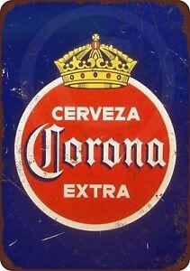 1940-Corona-Extra-Cerveza-Vintage-Metal-Sign-8-034-x-12-034