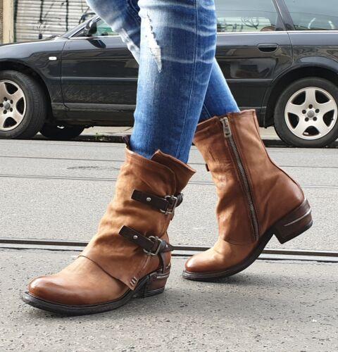 A.s.98 AirStep Chaussures Marron 512214 calvador//TDM Femmes Véritable Cuir Bottine Boot