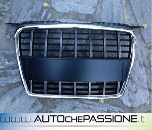 Griglia-Calandra-per-AUDI-A3-8P-2004-gt-2008-S3-Look-s-3-bordo-cromato-no-logo