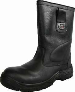 5b8243e5c81 Details about WARRIOR WATERPROOF RIGGER SAFETY BOOTS COMPOSITE TOE LINED  LEATHER BLACK