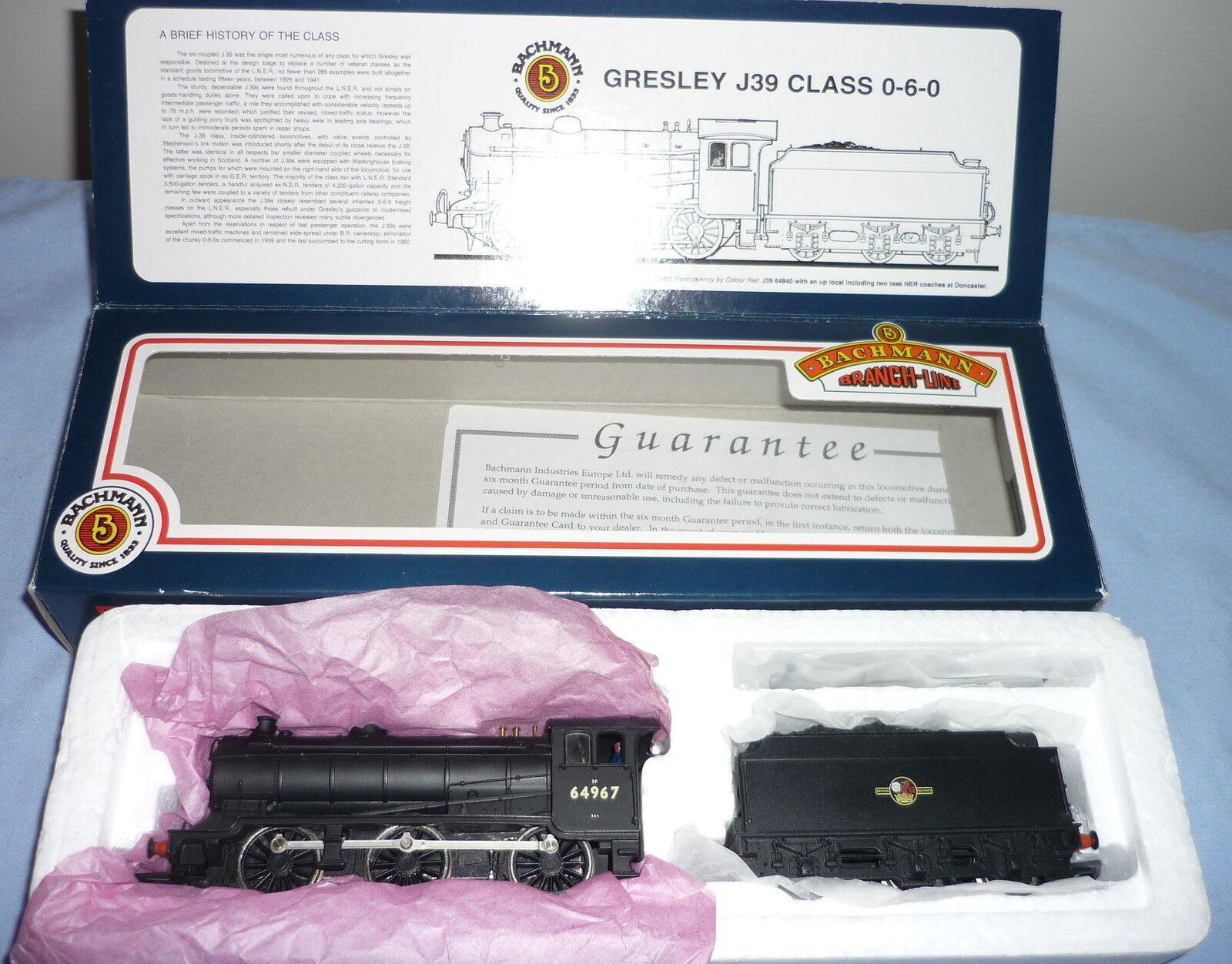 BACHuomoN OO GAUGE BR classe J39 060 GRESLEY TENDER LOCOMOTIVE 64967 31852 scatolad