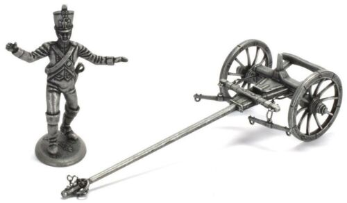 Figure Soldier Napoleonic War metal front car Forge carriage soldier 1//32 Atlas