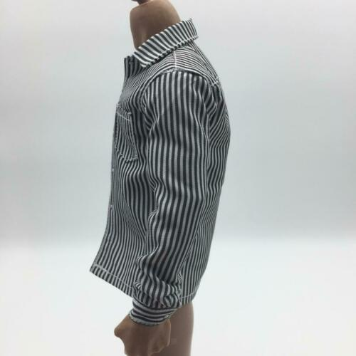 """1//6 Scale Men/'s Striped Shirt Clothes for 12/"""" Male Action Figure Accessories"""