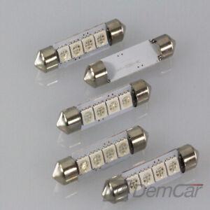 10x-LED-Feston-Lampe-Eclairage-Interieur-4x-SMD-42-Mm-Rouge
