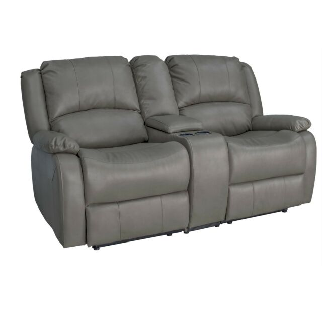 Recpro Charles 67 Double Rv Zero Wall Hugger Recliner Sofa W Console Putty