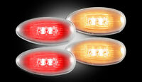 1999-2013 Chevy Gmc Truck Dually Clear Led Rear Fender Side Marker Lights Lamps