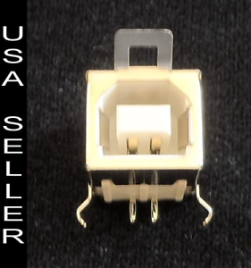5 pieces USB Type-B Female Right Angle 4-pin PCB Connector Socket Jack