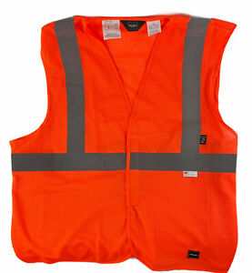 Walls Workwear 3M Orange Reflective Personal Safety Vest ANSI 2 Size XL